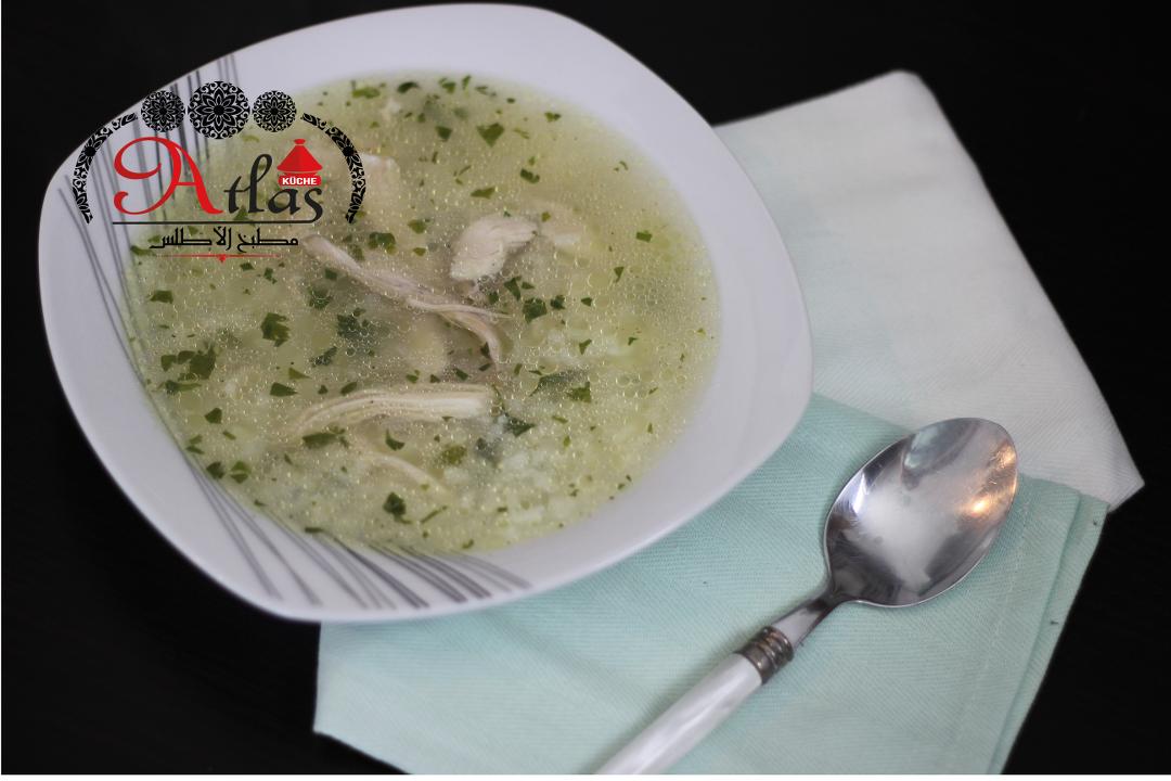 Hahnchen Reis Suppe Atlas Kuche