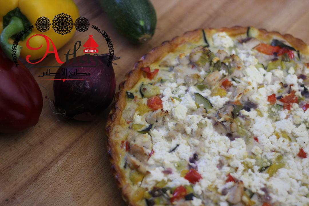 Quiche mit Hähnchen & Gemüse