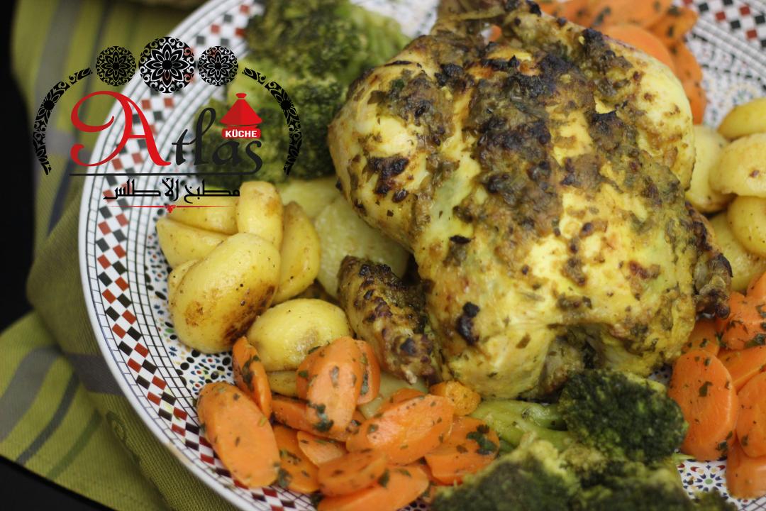 Hähnchen aus dem Ofen mit Gemüse