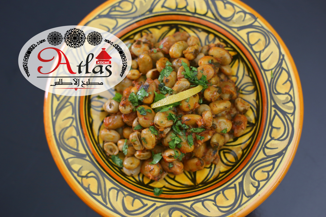 Lfoul Mchermel – marinierte Bohnen à la marocaine